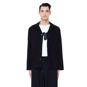 Blackyoto Black Cotton Jacket- male, One Size; Black