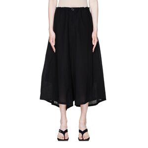 Y's Black Cotton Sarouel Trousers- female, 2; Black