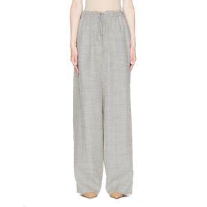 The Row Wool & Silk JR Pants- female, XL; Beige