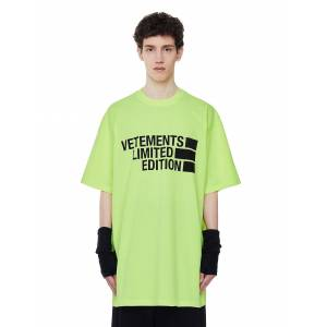 Vetements Oversize Limited Edition Printed T-shirt- male, S; Green
