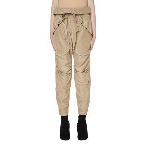 Faith Connexion Beige Silk Cargo Trousers- female, M; Beige