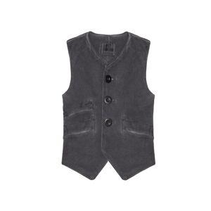 Lost&Found kids Grey Washed Cotton Vest- male, 4; Grey