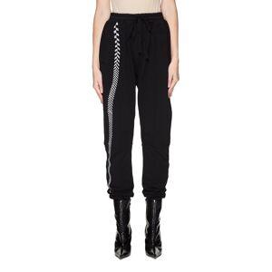 Haider Ackermann Embroidered Black Cotton Sweatpants- female, S; Black