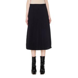 Vetements Black Pleated Skirt- female, M; Black