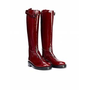 Ann Demeulemeester Red Leather Boots- female, 39; Red