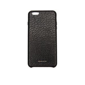 Ugo Cacciatori iPhone 6 Plus Textured Leather Case- male, One Size; Black