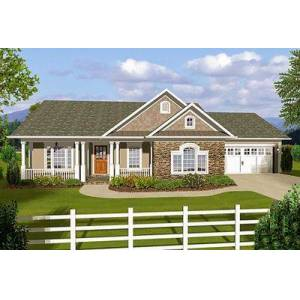 3 Bedroom Ranch With Covered Porches