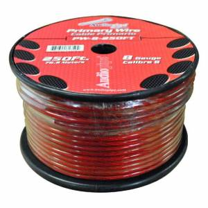 AUDIOPIPE PW8RD Power Wire 8ga 250FT Red