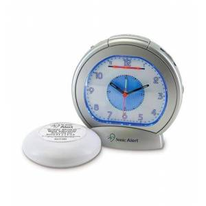 SONIC ALERT SBA475SS Sonic Boom Analog Alarm Clock