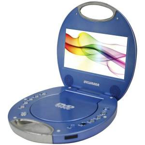 SYLVANIA SDVD7046-BLUE 7 INCH Portable DVD Player with Integrated Handle (Blue)