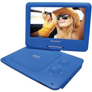 SYLVANIA SDVD9020B-BLUE 9 INCH Portable DVD Player with 5-Hour Battery (Blue)