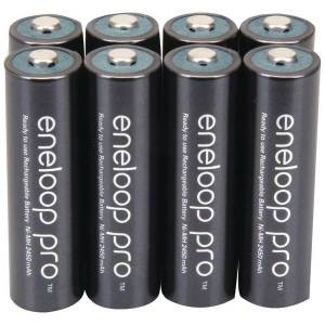 PANASONIC BK-3HCCA8BA eneloop Rechargeable XX Batteries (AA; 8 pk)