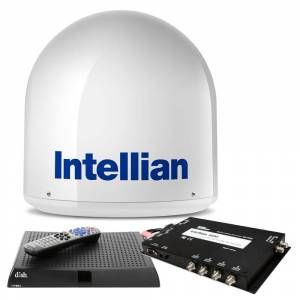 INTELLIAN B4-I2DNSB i2 US System with DISH/Bell MIM, 15M RG6 Cable, & VIP211z DISH HD Receiver