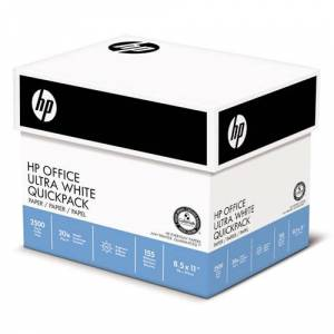 HEWLETT-PACKARD 11210-3 Office Paper, 92 Brightness, 20lb, 8-1/2 x 11, White, 2500 Sheets/Carton