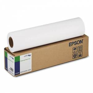 EPSON S041746 Singleweight Matte Paper, 120 g, 2 INCH Core, 17 INCH x 131 ft., White