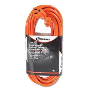 INNOVERA IVR72225 Indoor/Outdoor Extension Cord, 25 Feet, Orange