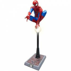 Spider-Man on Lamppost Light-Up Life-Size Statue