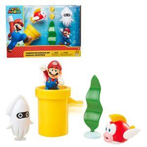Nintendo World of Nintendo 2 1/2-Inch Underwater Diorama Playset