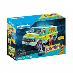 Scooby-Doo Playmobil 70286 Scooby-Doo! Mystery Machine with Fred, Daphne, and Velma Action Figures