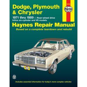 Haynes Manuals US Dodge, Plymouth, & Chrysler RWD 6 cylinder & V8 (71-89) Haynes Repair Manual