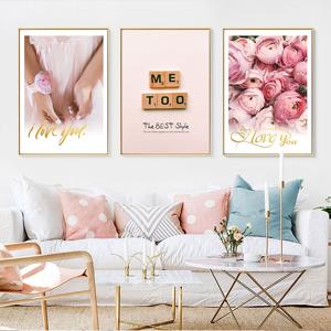 Belladonna Home Decor I Love You Blush Romantic Motivational Wall Art Inspirational Home Décor  Color C-Size 6.) Unframed/Frame Less:  16x24inch