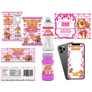 Sugar Rush Dessert House Paw Patrol - Skye - Digital Download Party Package