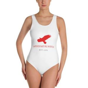 Mother Nature Models MNM Red Est 1989 Limited Edition One-Piece Swimsuit XL