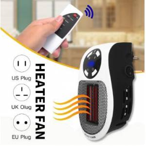 Qualitywise1 220V 500W Portable Electric Heater Mini Fan Heater Desktop Household Wall Handy Heating