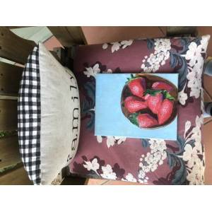 SOLIDVINTAGE Strawberry love painting