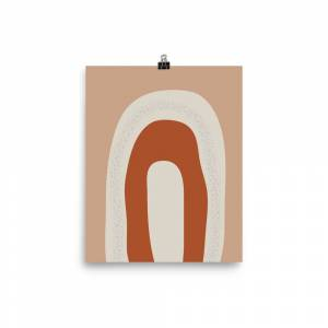 FineArt_River Abstract geometric wall decor 12×16