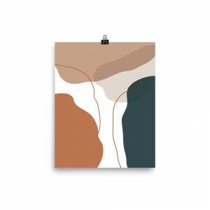 FineArt_River Abstract geometric wall decor 12×18