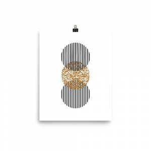 FineArt_River Geometric shape art Abstract Poster 12×16