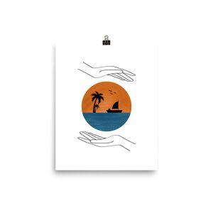 FineArt_River Beach Poster 12×18