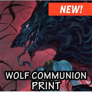 Jessica Fong Art Wolf Communion Limited Print Run