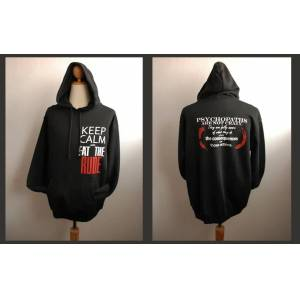 Chicozari *SALE50%OFF*Hannibal Hoodie Sweatshirt Keep Calm and eat the rude plus Psychopaths are not crazy size 2X