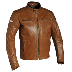 Robleatherseller Men New Brown Color Motorcycle Racing Quilted Zipper Genuine Leather Jacket 5XL