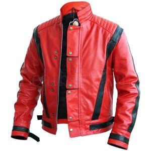 The Leather Souq Men's Stylish Red & Black Leather Jacket, Men's Fashion Biker Jacket XL