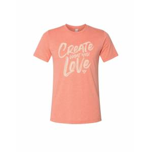 Just Heart Apparel Create what you Love sunset graphic tee medium