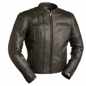 LeathersPlanet Fmc The Cafe A-Lister Men's Black Leather Jacket Fim264nocz XXS