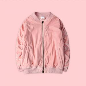 soldrelax UNISEX FLANNEL MA-1 JACKET IN PINK L