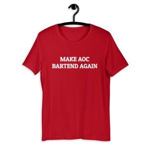 TurboStyle Make aoc bartend again T-Shirt Short-Sleeve Unisex Oxblood Black / S