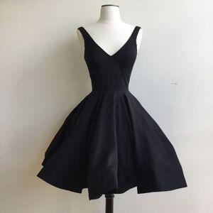 dreamdressy Cute A-line Short Black Party Dress Knee Length  US 14