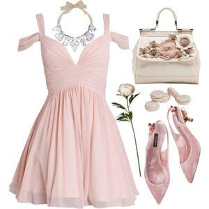dreamdressy Cute A-line Short Chiffon Pink Homecoming Dress US 14