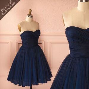 dreamdressy Cute A-line Strapless Navy Blue Navy Shot Hoemcoming Dress Above Knee US 14
