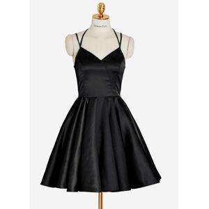 dreamdressy Little Black Dress, Short Black Homecoming Dress US 14