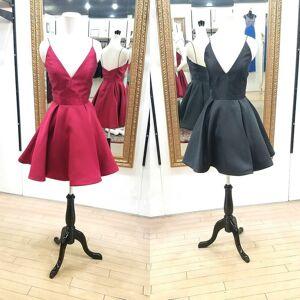 dreamdressy 2017 Short Homecoming Dress, Red Homecoming Dress, Black Homecoming Dress US 14-Red