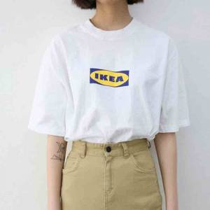 Dejavu Cat Ikea unisex t-shirt L White