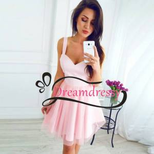 dreamdressy Short Pink Homecoming Dress,Homecoming Dress under 100 US 14