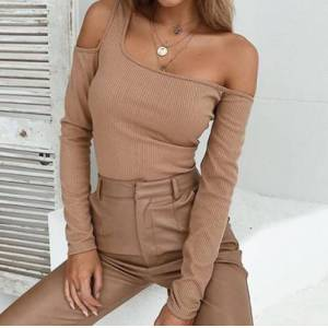 Kiss Tanya Off Shoulder Long Sleeve Shirt M Black