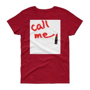 concepttees Concept Tees An Hats,call Me(Lipstick) Antique Cherry Red / S